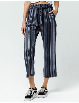 Sky And Sparrow Stripe Tie Front Womens Pants by Sky And Sparrow