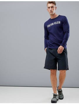 Sudadera Con Cuello Redondo Y Logo Performance De Calvin Klein by Asos