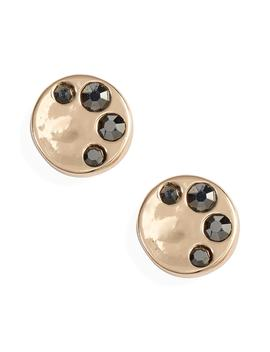 Pavé Molten Disc Stud Earrings by Treasure & Bond