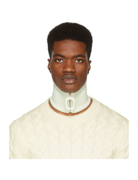 Off White Wool Neck Band by Jw Anderson