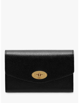 Mulberry Darley Classic Grain Leather Medium Wallet, Black by Mulberry