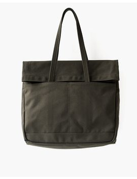 Makr Canvas And Leather Fold Weekender Bag by Madewell