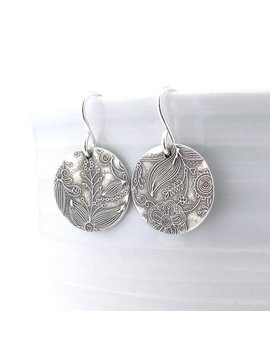 Small Silver Earrings Sterling Silver Jewelry Silver Dangle Earrings Summer Outdoors Bohemian Jewelry Rustic Jewelry   Unique Petites by Etsy