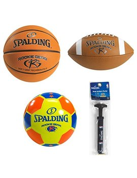 Spalding Rookie Gear Youth Balls And Pump by Spalding