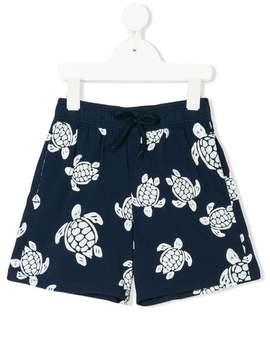 Turtle Print Swim Shorts by Vilebrequin Kids