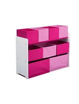 Delta Children Deluxe Multi Bin Toy Organizer With Storage Bins, White/Pink by Delta Children