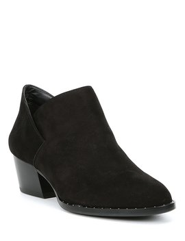 Phinn Nubuck Leather Block Heel Booties by Antonio Melani