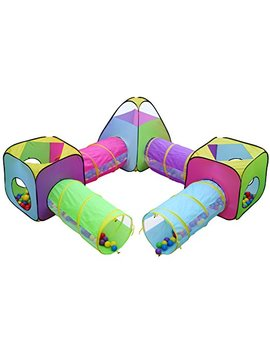Hide N Side 7pc Children Play Tent And Tunnel Toy Jungle, Indoor & Outdoor Play Tent, Playhouse Kids Pop Up Tent With Tunnels, Boys And Girls Tent For Kids Tent by Hide N Side
