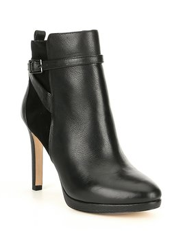 Kashmore Leather And Suede Dress Booties by Antonio Melani