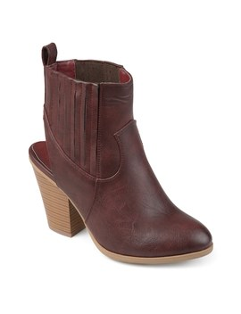 Journee Collection Neri Women's Slingback Ankle Boots by Kohl's