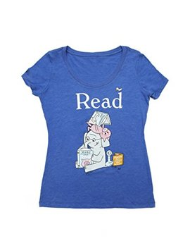 Out Of Print Women's Classic Children's Book Themed Scoop Neck Tee T Shirt by Out Of Print