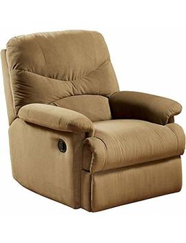 Eshion Wall Hugger Microfiber Recliner Adjustable Chair For Living Room, Multiple Colors (Light Brown) by Eshion