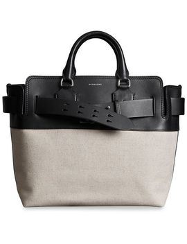 The Medium Canvas And Leather Belt Bag by Burberry