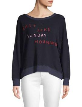 Easy Like Sunday Morning Bubble Sweater by Sundry