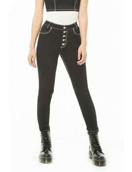Topstitched Button Fly Jeans by Forever 21