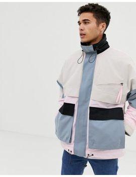 Noak – Wattierte Jacke In Pastellfarbe Mit Mehreren Taschen by Asos