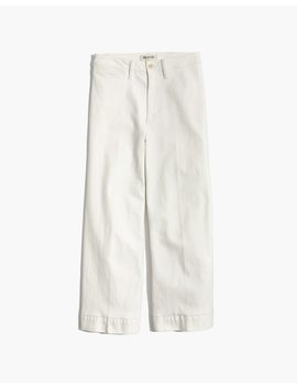 Petite Emmett Wide Leg Crop Jeans In Tile White by Madewell
