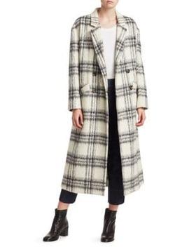 Maya Plaid Wool Blend Boxy Coat by Cinq à Sept