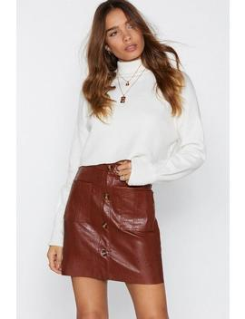 Sunshine Of Your Love Faux Leather Skirt by Nasty Gal