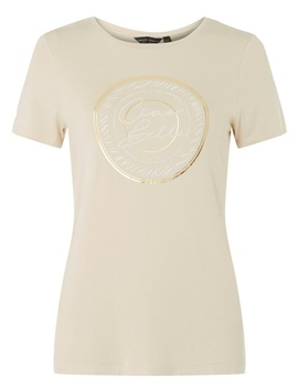 Stone Ciao Bella Motif T Shirt by Dorothy Perkins