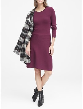 Button Shoulder Sweater Dress by Banana Repbulic
