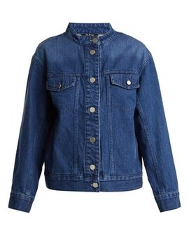 Bailey Collarless Oversized Denim Jacket by A.P.C.