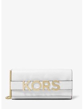 Bellamie Embellished Leather Clutch by Michael Michael Kors