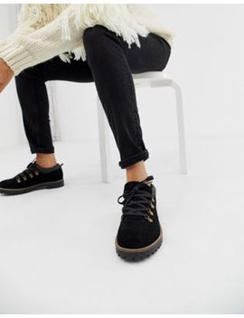 Asos Design Mazing Suede Hiker Flat Shoes by Asos Design