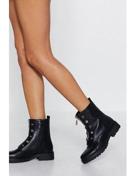 Army Of Me Faux Leather Boot by Nasty Gal