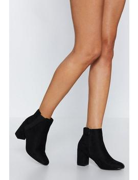 Walks Of Life Faux Suede Bootie by Nasty Gal