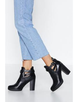Live It Up Buckle Heel by Nasty Gal