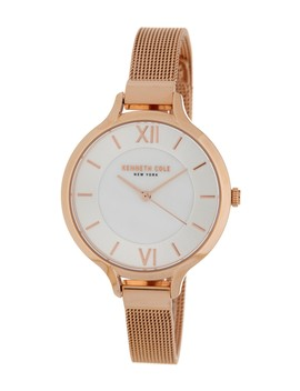 Women's Classic Mother Of Pearl Leather Strap Watch, 34mm by Kenneth Cole New York