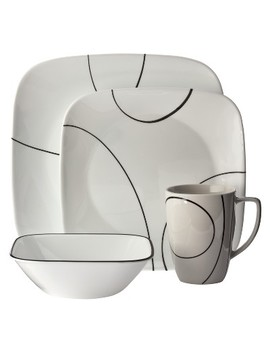 Corelle® Square™ 16pc Dinnerware Set Simple Lines by Shop This Collection