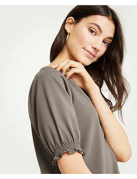 Smocked Cuff Top by Ann Taylor