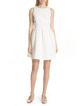 Faux Pearl Embellished Skater Dress by Ted Baker London