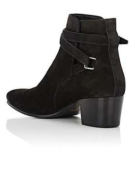 Blake Suede Jodhpur Boots by Saint Laurent