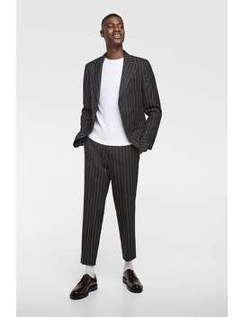 Anzughose Mit Nadelstreifen  Alles Sehen Hosen Herren by Zara