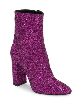 Loulou Glitter Bootie by Saint Laurent