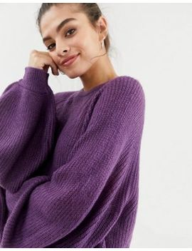 Brave Soul Harris Sweater With Balloon Sleeves by Sweater