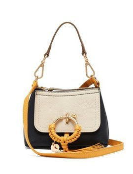 Joan Colour Block Mini Leather Cross Body Bag by See By Chloé