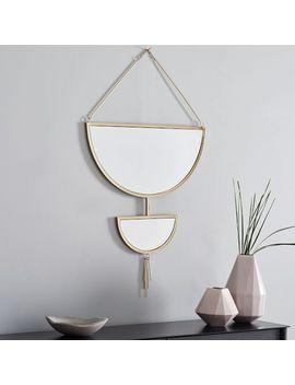 Hanging Half Moon Mirror by West Elm