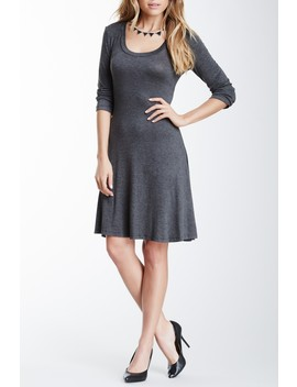 Scoop Neck Dress (Plus Size Available) by 24/7 Comfort