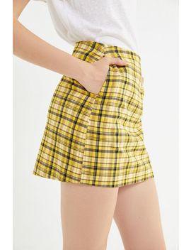 Uo Colin Plaid Pocket Mini Skirt by Voir Plus De Urban Outfitters