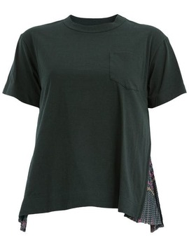 Pleated Detailed T Shirt by Sacai