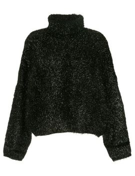 Detachable Collar Fluffy Jumper by Ports 1961