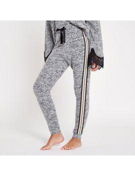 Grey Marl Loungewear Joggers                                    Grey Marl Loungewear Hoodie by River Island