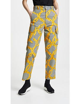 Printed Cargo Pants by Maison Chateau Rouge