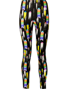 Printed Stretch Jersey Leggings by Gucci