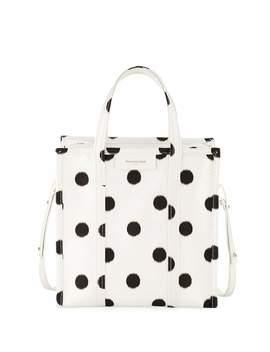 Bazar Shopper Small Aj Polka Dot Tote Bag by Balenciaga