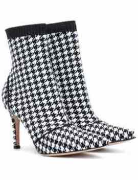 Houndstooth 85 Ankle Boots by Gianvito Rossi